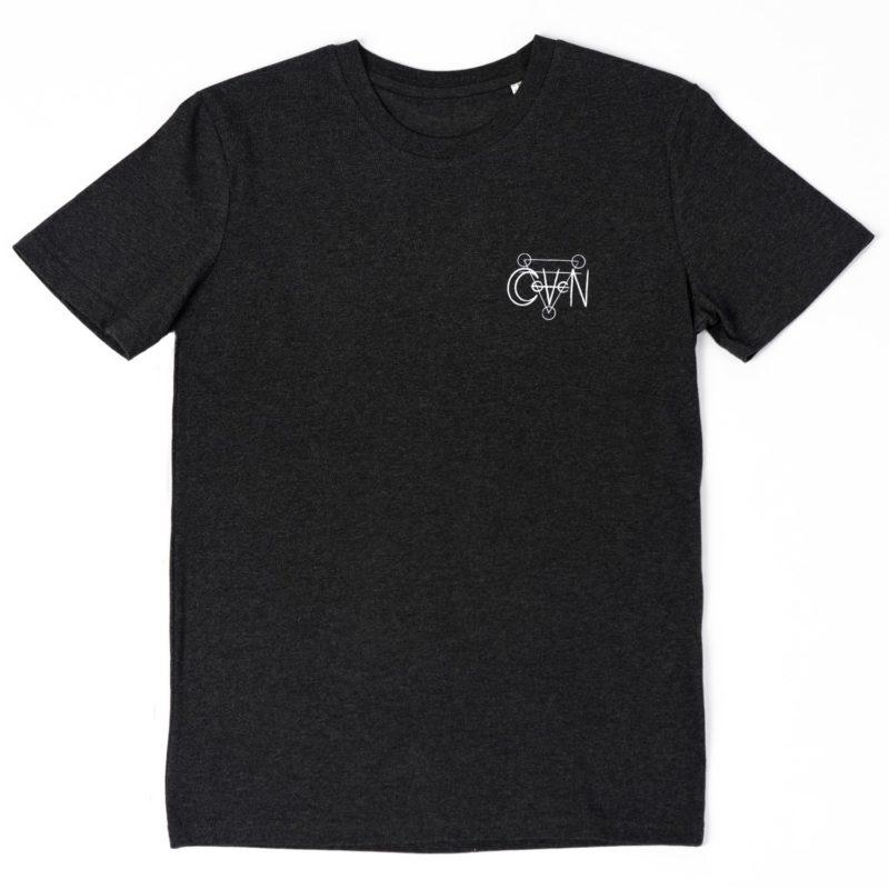 T-shirt CoVeN élément gris terre coeur