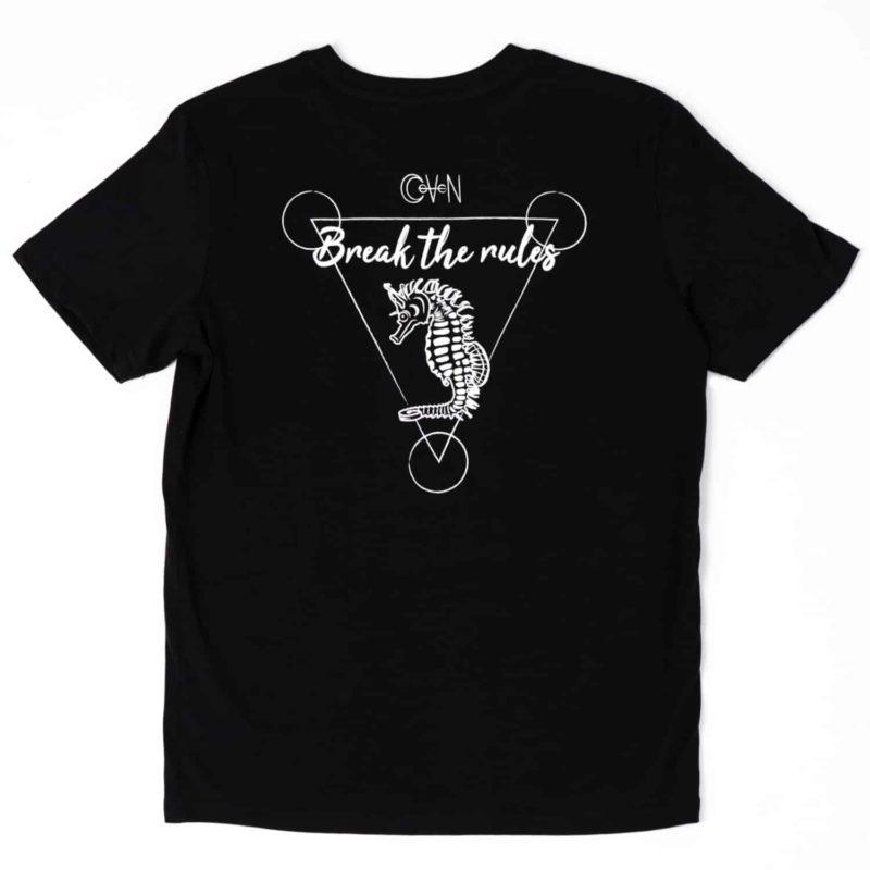 T-shirt CoVeN élément noir eau dos