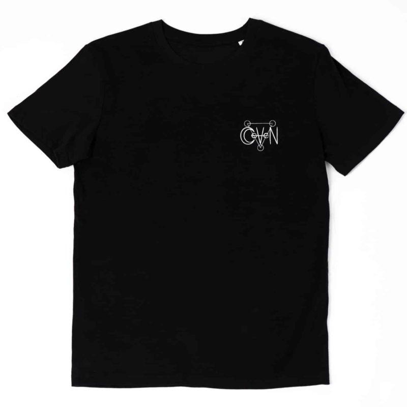 T-shirt CoVeN élément noir eau coeur