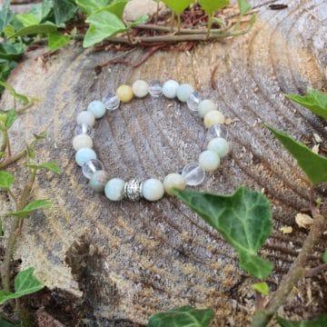 Bracelet Amazonite Cristal de Roche CoVeN